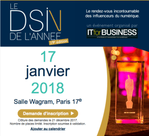 #IT - La Nuit des DSI - By IT for Business @ Salle Wagram  | Paris | Île-de-France | France