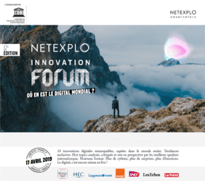#INNOVATIONS - Forum UNESCO-Netexplo 2019 - By Les Echos @ Maison de l'UNESCO
