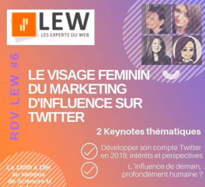 #MARKETING  - Le visage féminin du marketing d'influence sur Twitter -  By LEW Anthony Rochand @ Campus Sciences-U