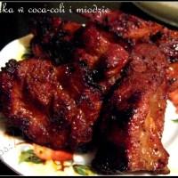 Żeberka z grilla w coca-coli i miodzie