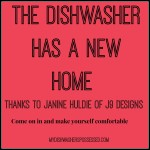 The Dishwasher Has A New Home