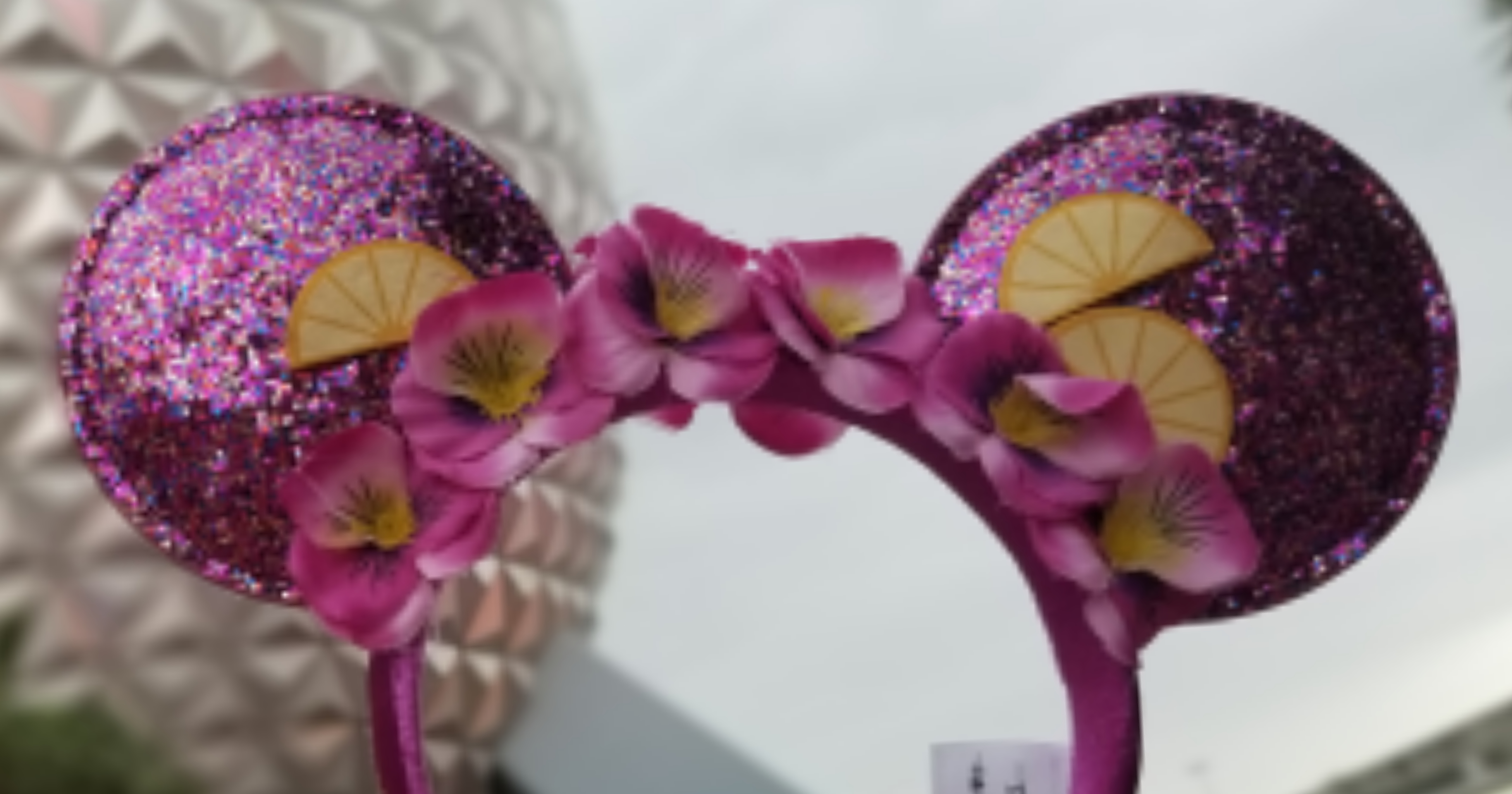 new violet lemonade minnie ears avaiable at epcot flower & garden