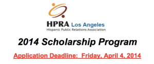 Access the application here: http://www.hpra-usa.org/la/wp-content/uploads/2012/07/2014-Scholarship-Application.pdf