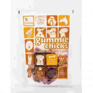Snack gomitas para perros sabor Pollo Aikos