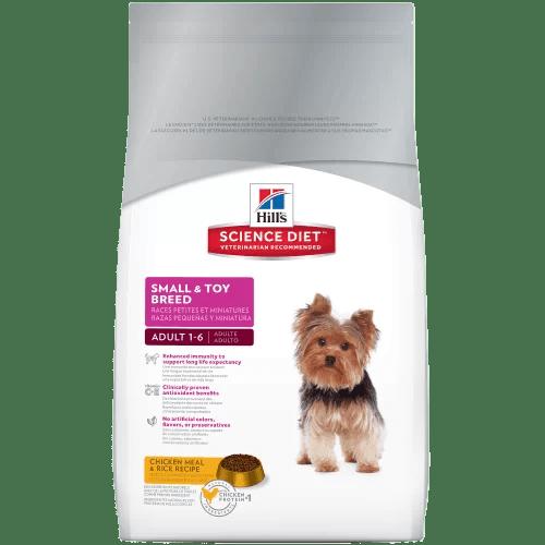 Hills® Science Diet™. Perros Adultos de Razas Pequeñas con Pollo y Arroz