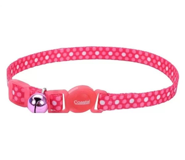 COASTAL Collar Gato Fashion Polka Rosado