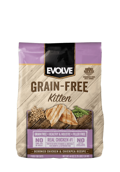EVOLVE CAT GRAIN FREE KITTEN CHICKEN - POLLO