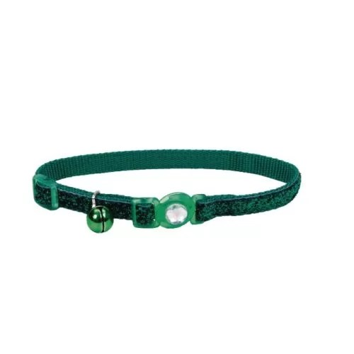 COASTAL Collar Gato Brillante Verde