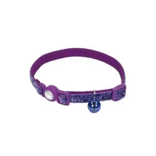 COASTAL Collar Gato Brillante Morado