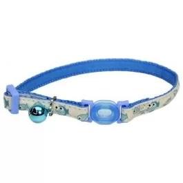 COASTAL Collar Gato Glow Reflectivo Pescaditos Azul