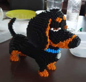 mini dachshund mini lego set