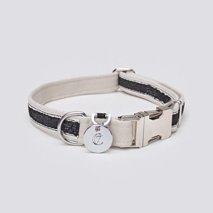 05 49 C7 Dog Collar Hugo Webbing Black SCREEN