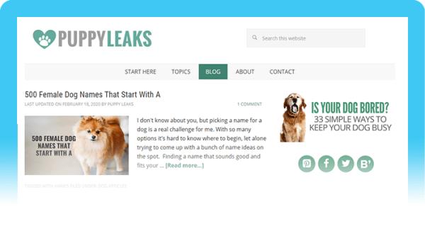 Best Dog Blogs of 2020: Puppy Leaks