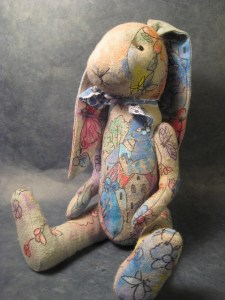 Hand-painted bunny by Russian artist, kuklymarfy