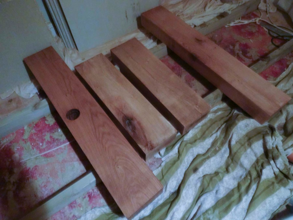 sleepers sanded and stained