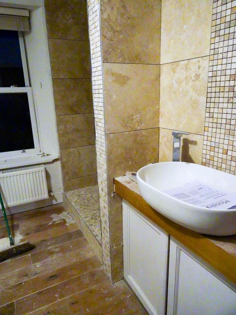 Bathroom beginning to look splendid