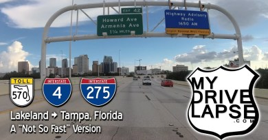 Lakeland to Tampa on Polk Parkway, Interstate 4, 275 Dashcam Drive Through Florida