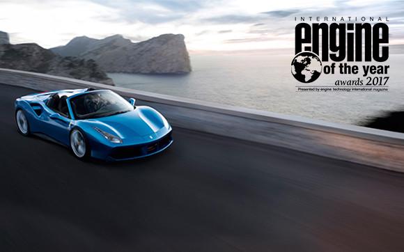 The Ferrari turbo V8 wins The International Engine of the Year Award