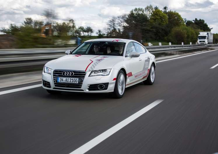 First automated vehicle in New York, an Audi
