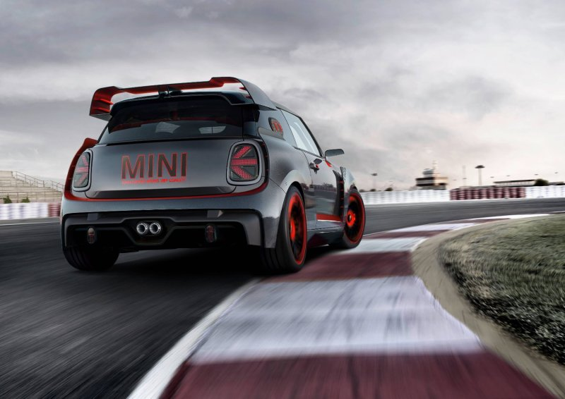 The MINI John Cooper Works GP Concept: Racing without compromise. MINI presents design study at the IAA Cars 2017.