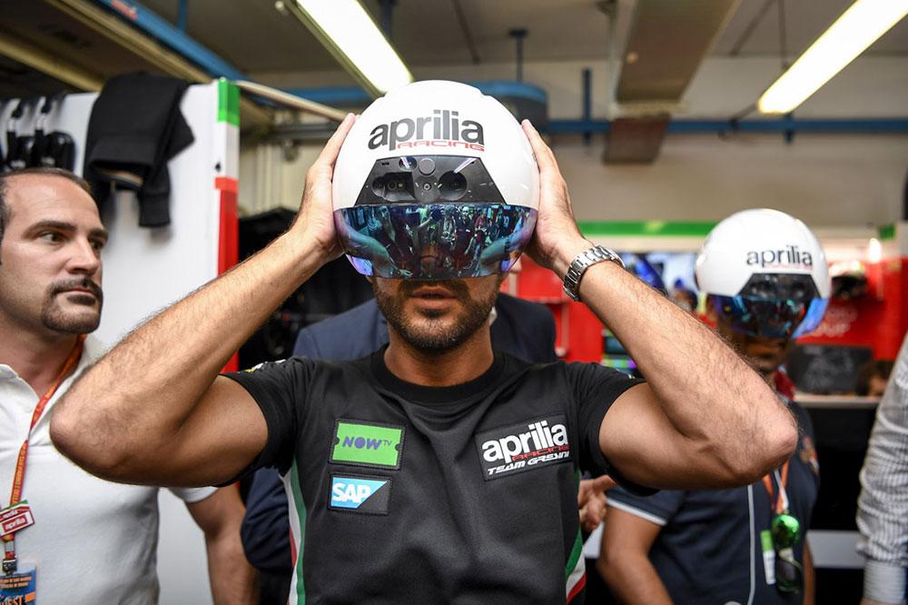 Aprilia Racing leans on augmented reality at MotoGP to maintain peak bike performance