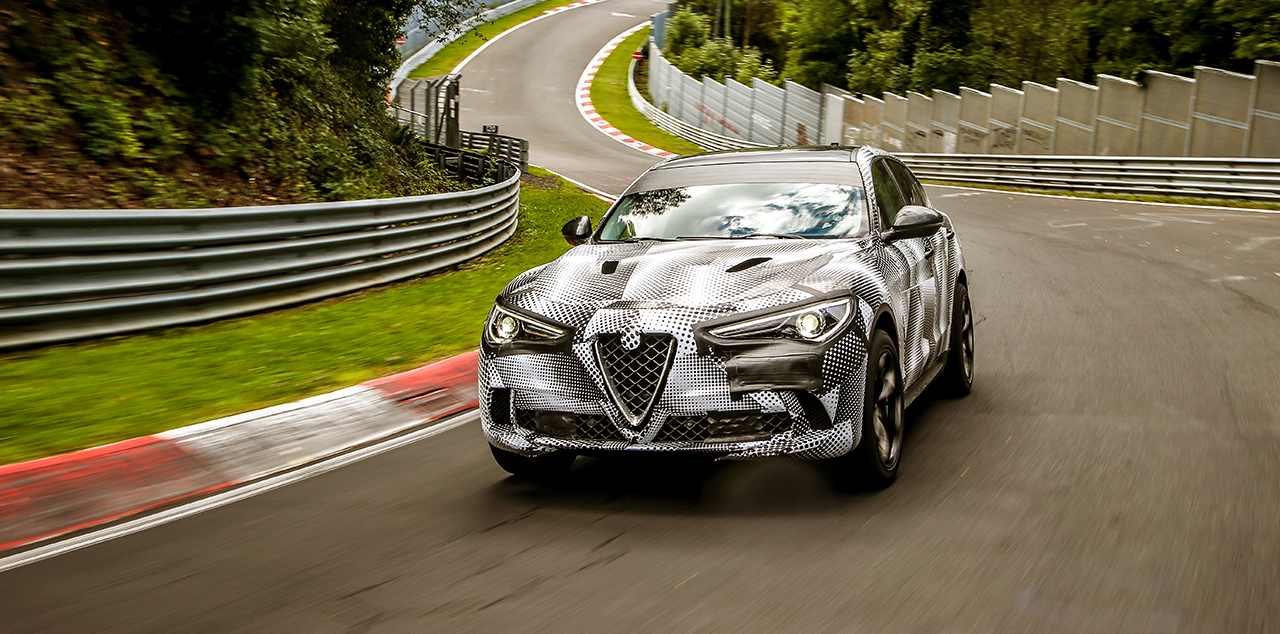Alfa Romeo Stelvio Quadrifoglio Claims Title of World's Fastest Production SUV with Record Nürburgring Lap Time