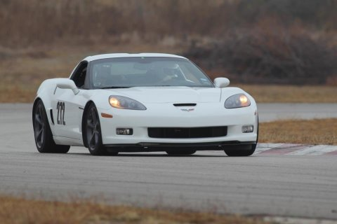 My old Grand Sport on the track at MSR Cresson.