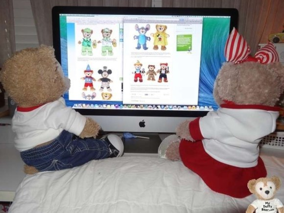 Duffy the Disney Bear and ShellieMay read the Disney Blog New Duffy Disney Bear Outfits