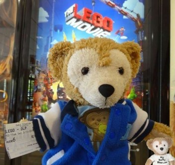 Duffy the Disney Bear goes to see the Lego Movie