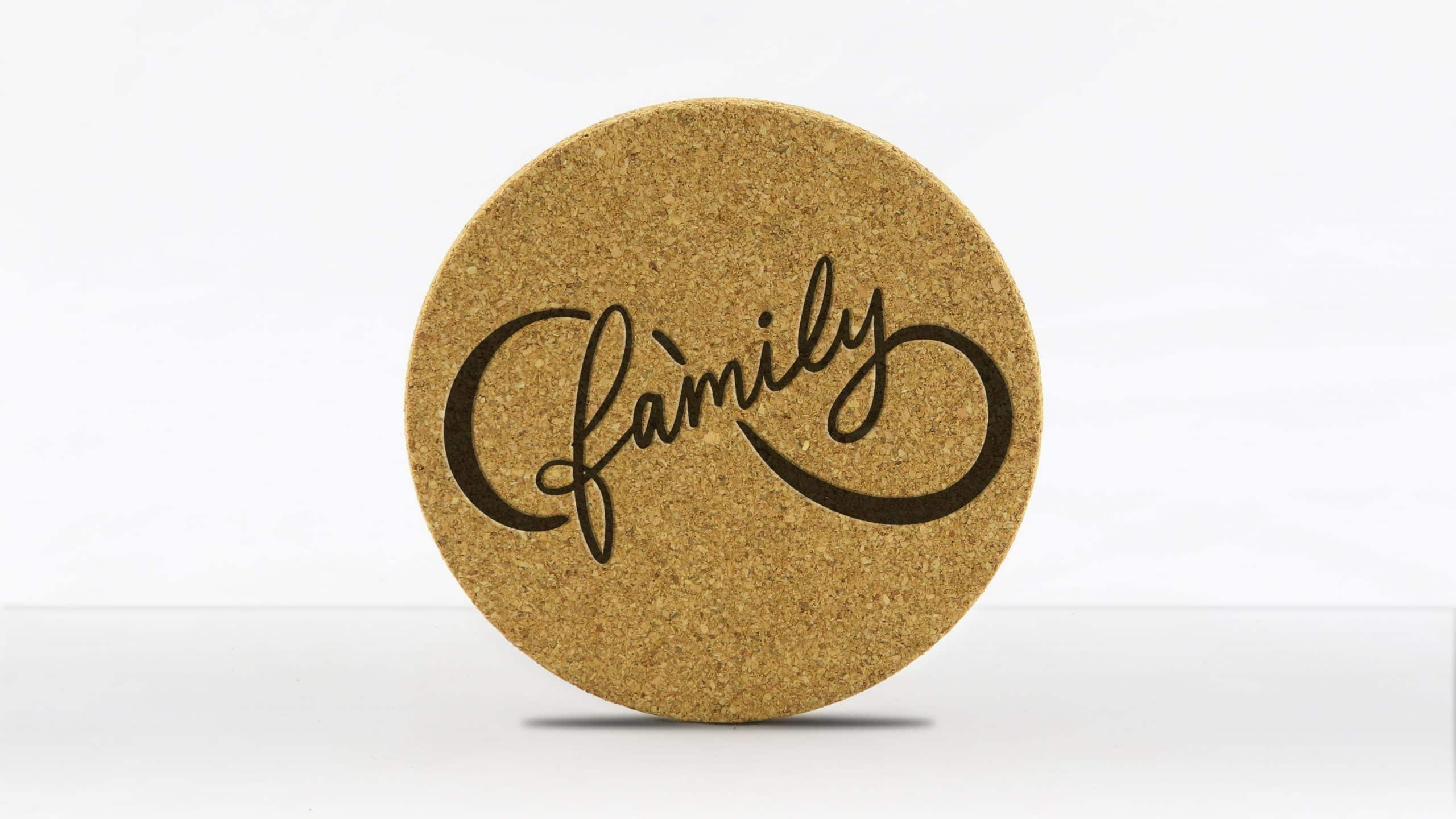 4in round coaster - Infinity - Family