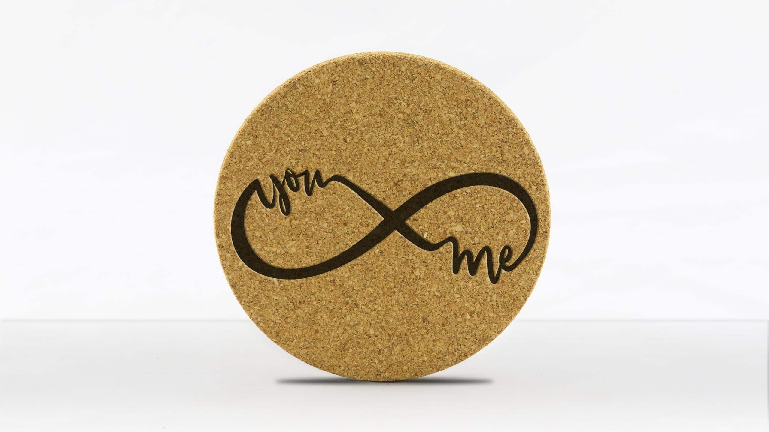4in round coaster - Infinity - You-Me