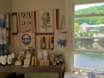 tea towels, totes, soap, lotions and candles!