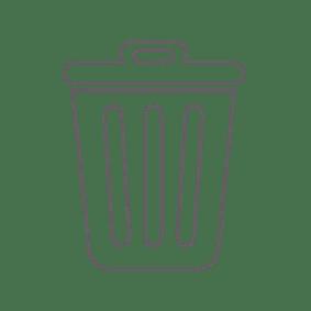 waste basket illustration