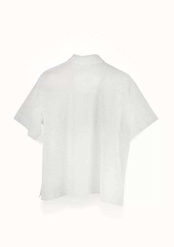 White short sleeve shirt made from organic and recycled cotton - back