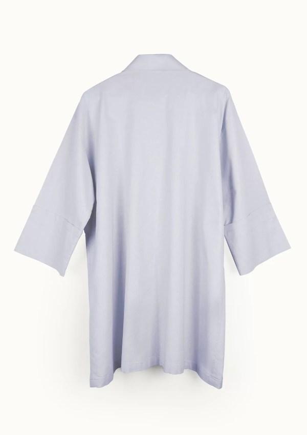 Light blue cotton shirt with medium sleeves - back