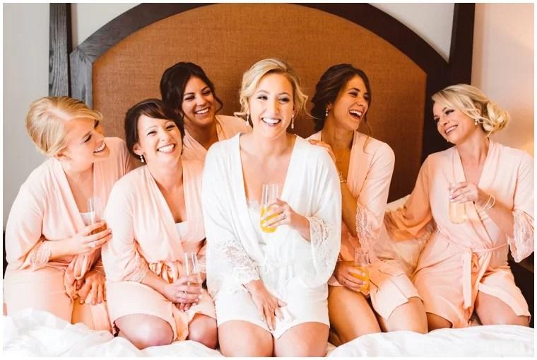 getting ready bridesmaids brunch