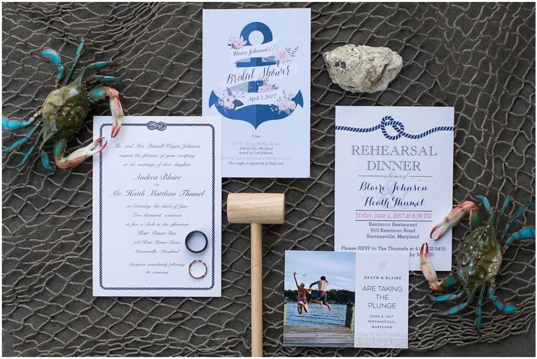 Nautical wedding stationery. | My Eastern Shore Wedding |