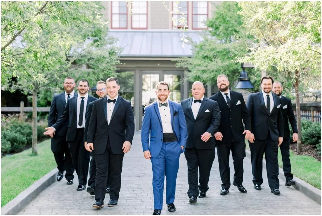 Groom with his groomsmen. | My Eastern Shore Wedding |