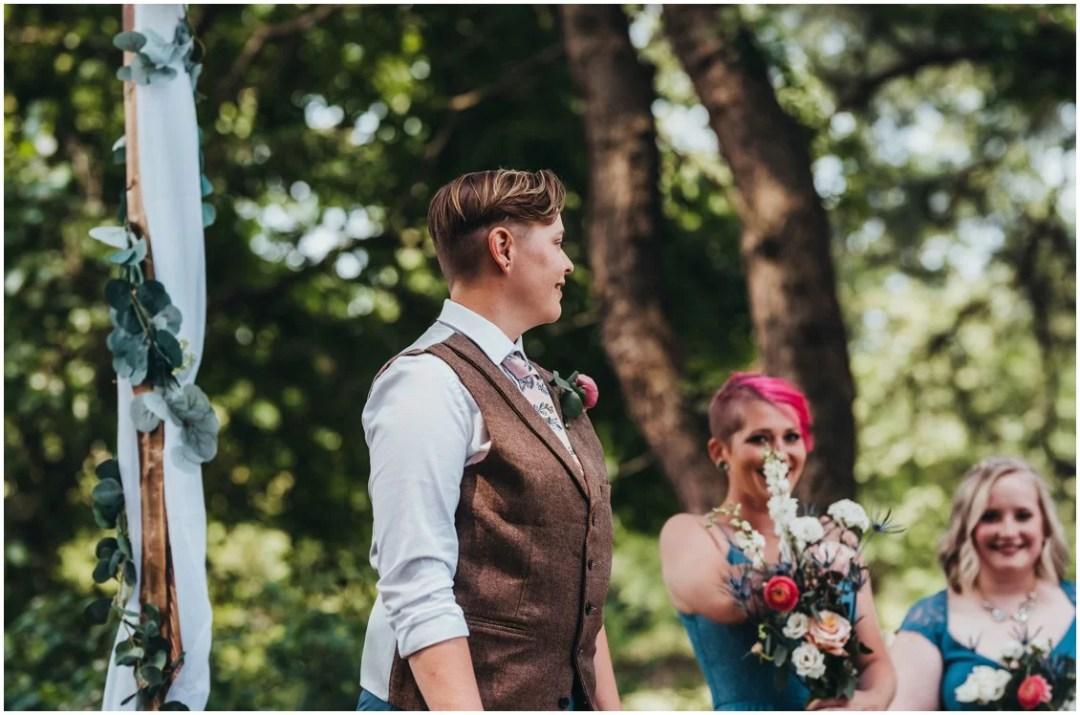 Watching bride walk down the aisle. | My Eastern Shore Wedding |