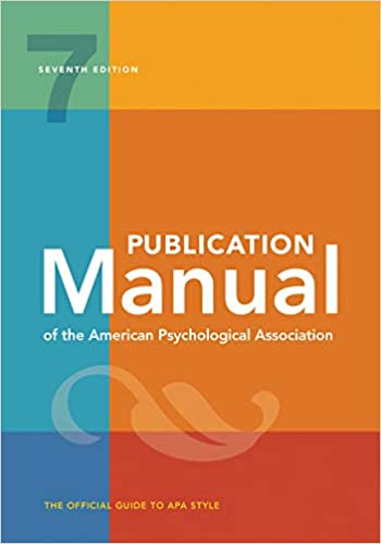 Publication Manual of the American Psychological Association (7th Edition) – eBook