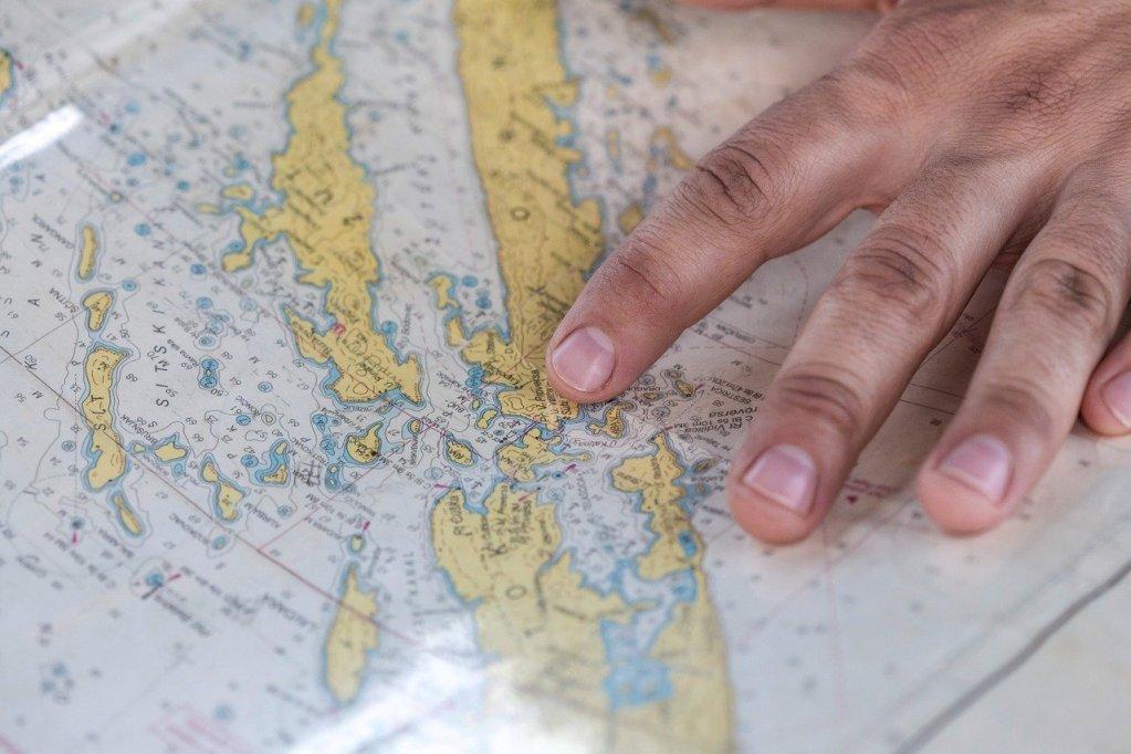 map, sail, sailor