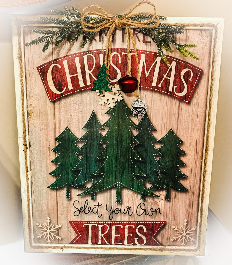 Read more about the article Gift Bag Wall Art – Farm Fresh Trees