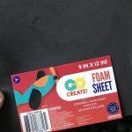 foam sheet from Walmart