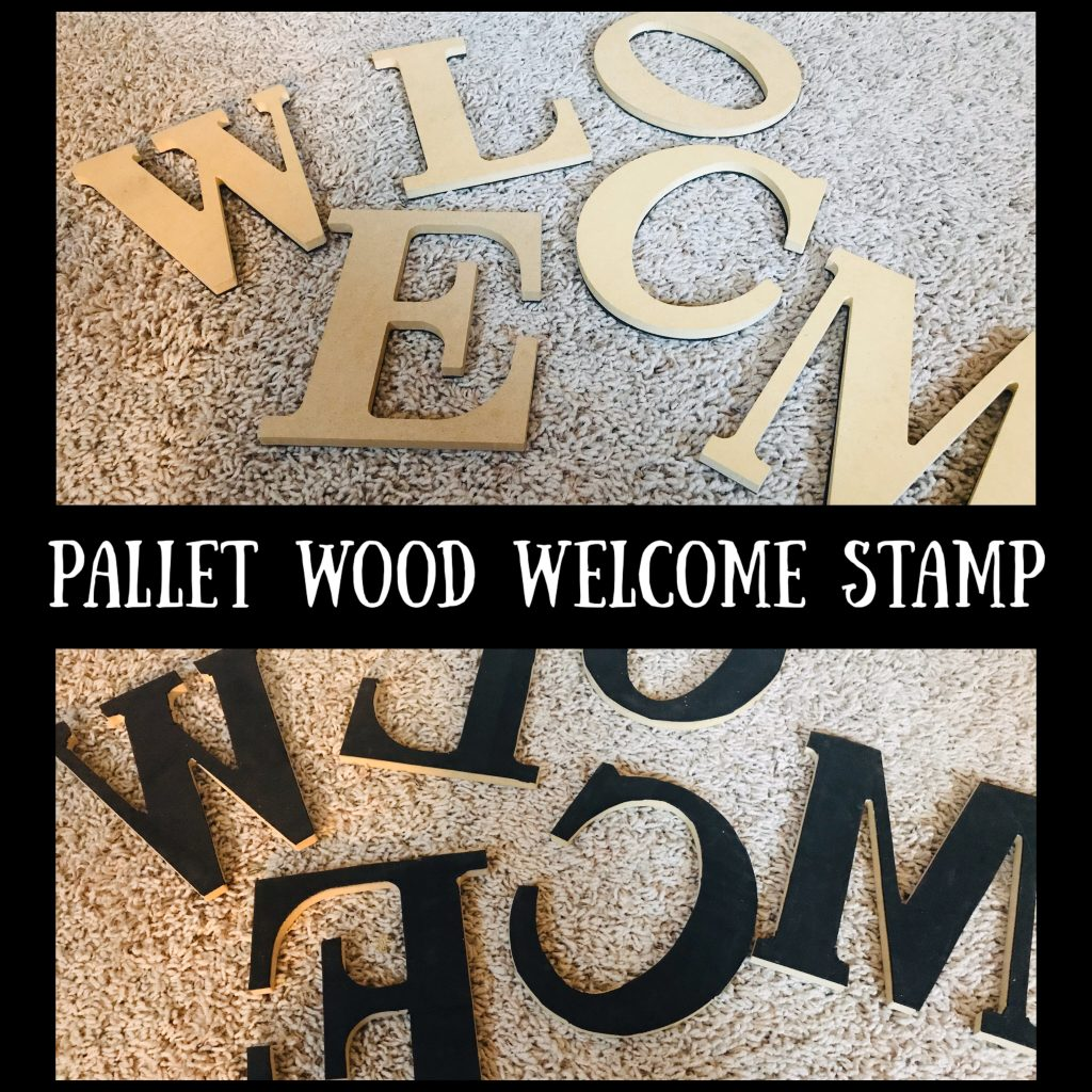 Wooden Letter Stamps DIY