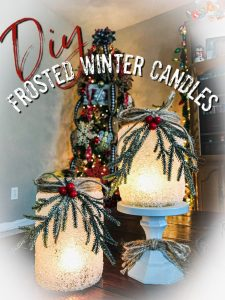 Frosted Glass Candle Holder – Pickle Jar Crafts