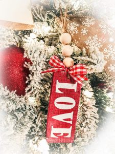 Valentine's Farmhouse Ornaments