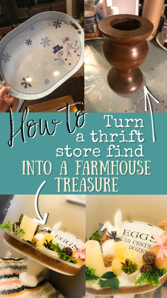 Farmhouse Kitchen Tray DIY