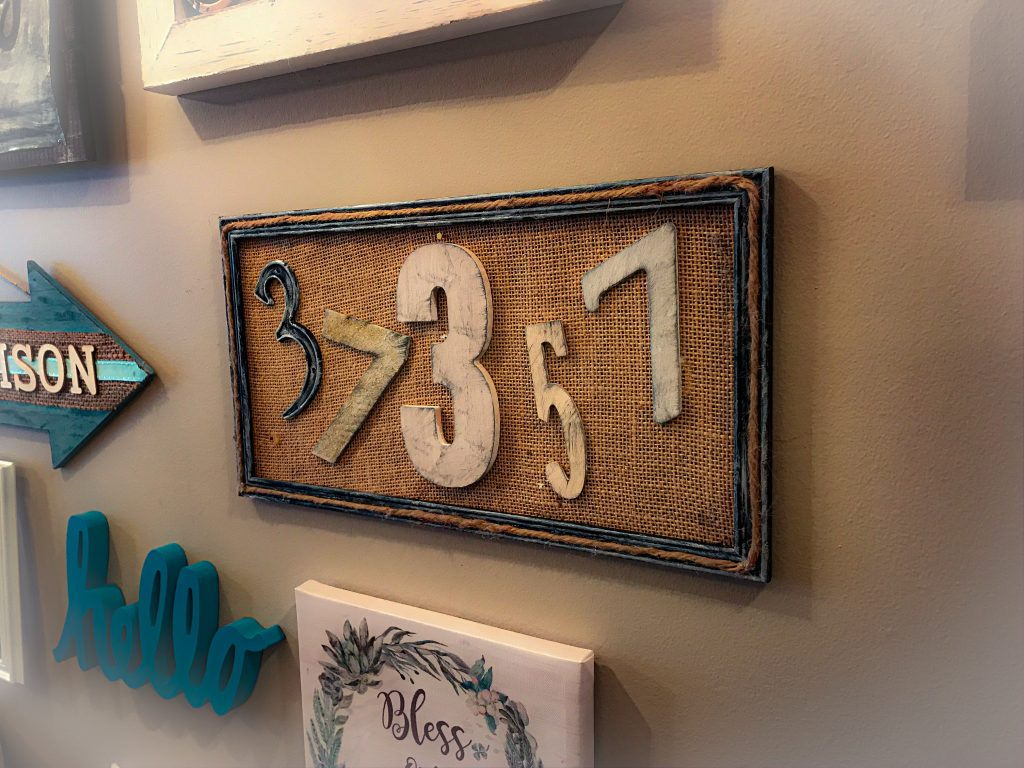 DIY Zip Code Sign for Your Gallery Wall