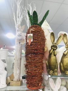 grapevine carrot decor from homegoods easter