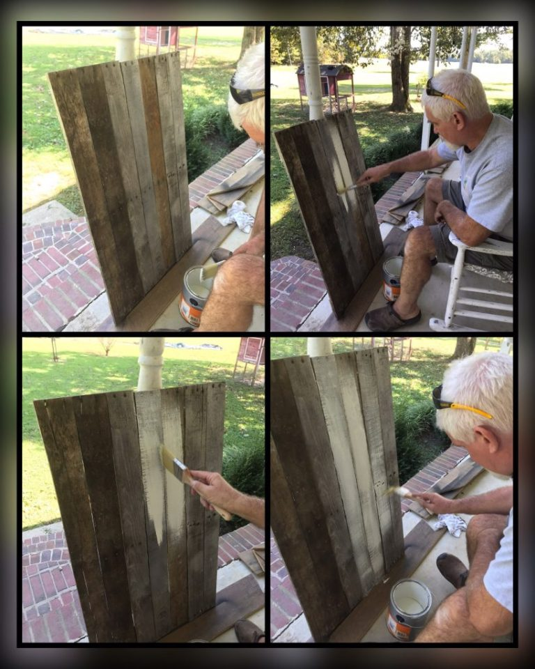 painting pallet wood board